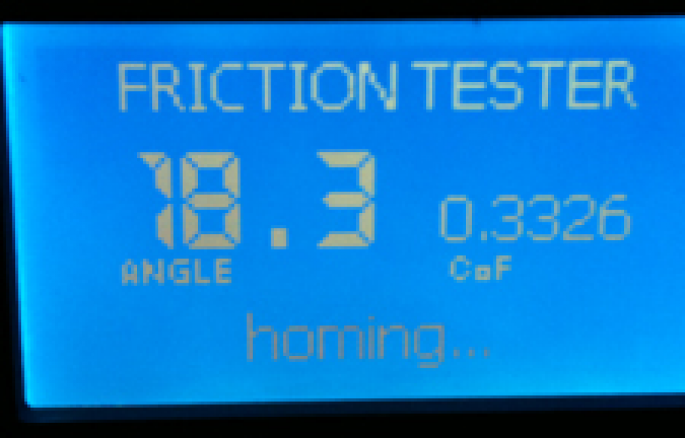 friction tester screen